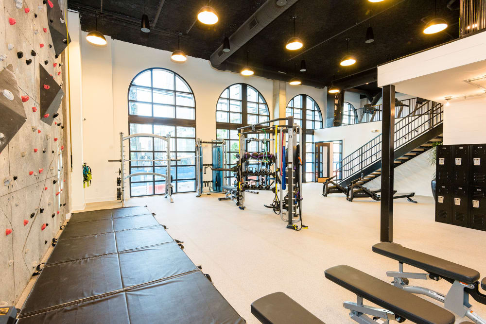 Rendering of the fitness center at Olmsted Nashville