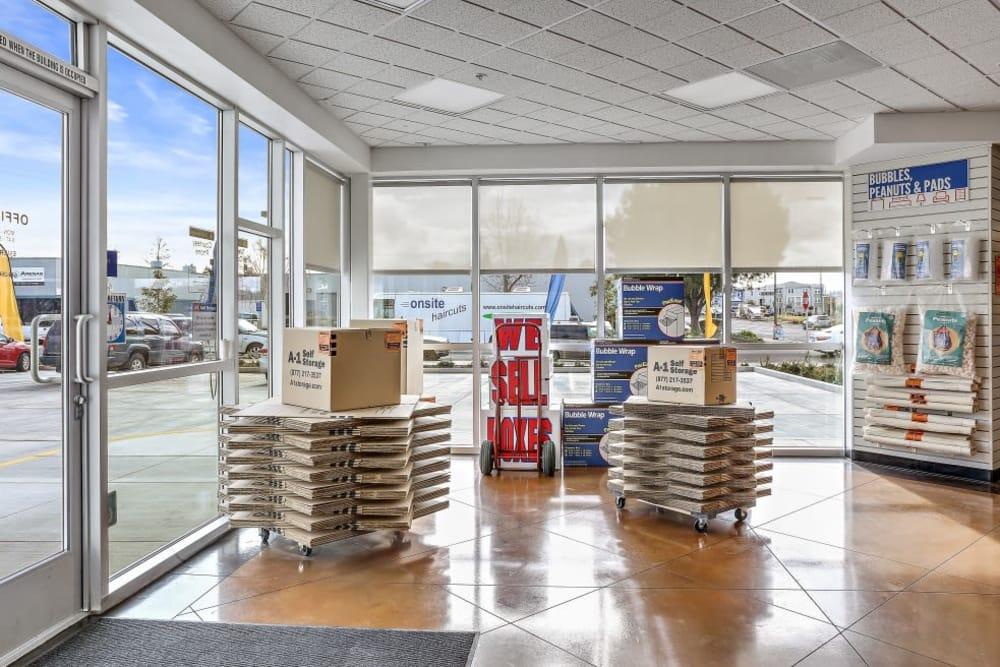 packing supplies San Jose, CA | A-1 Self Storage