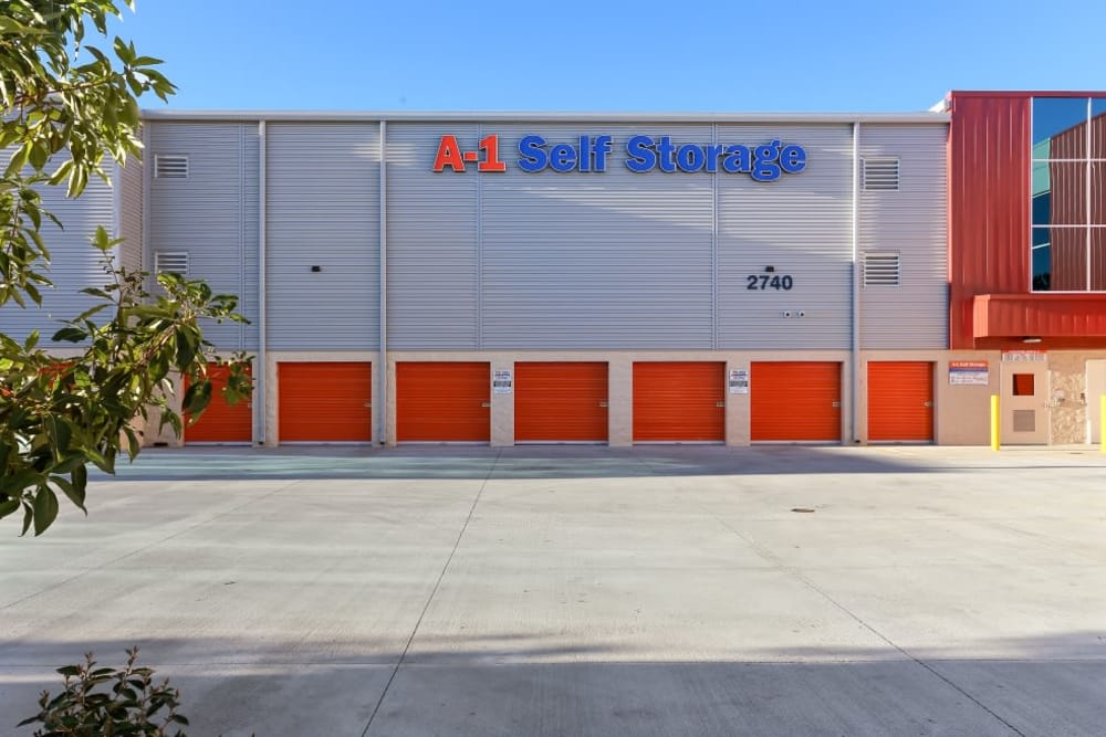 exterior units at A-1 Self Storage in San Diego, California