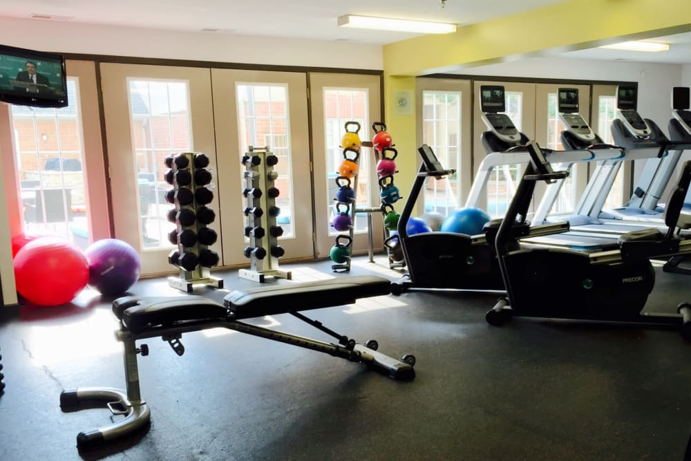 Fitness center at Loring Park Apartments in Minneapolis