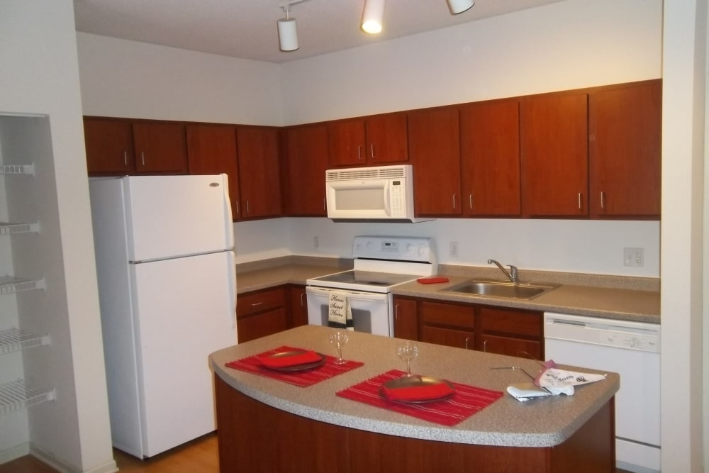 Kitchen at our apartments for rent in Minneapolis