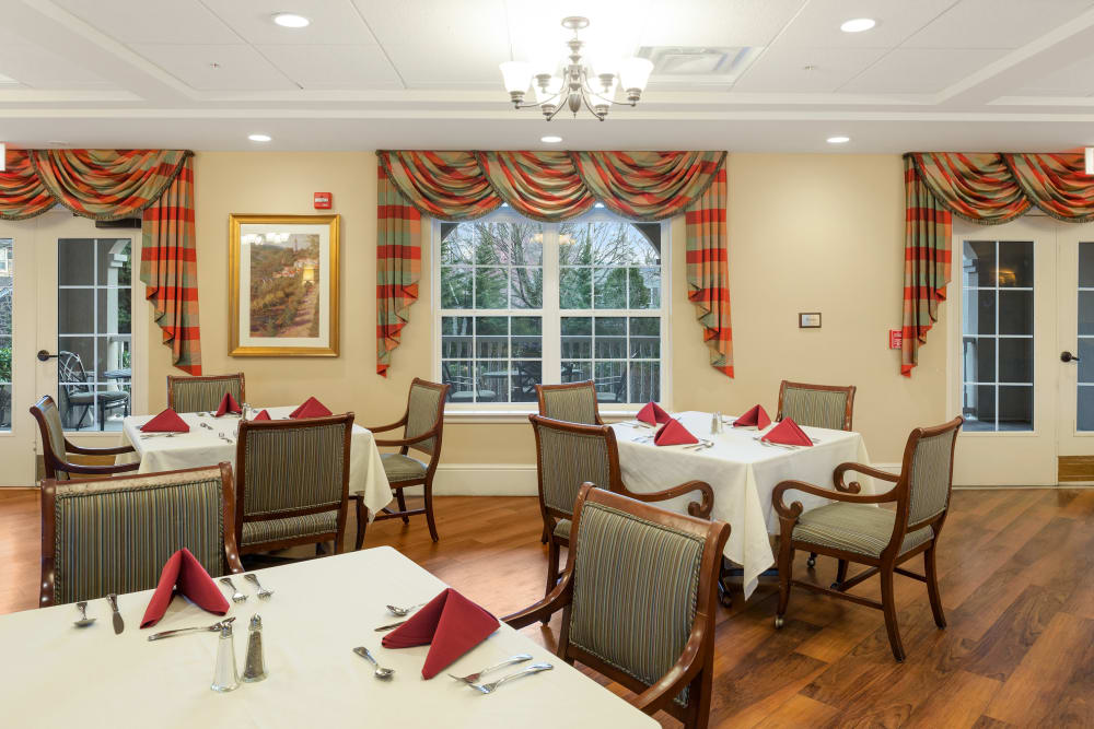 Stunning dining room at Symphony Square in Bala Cynwyd, Pennsylvania