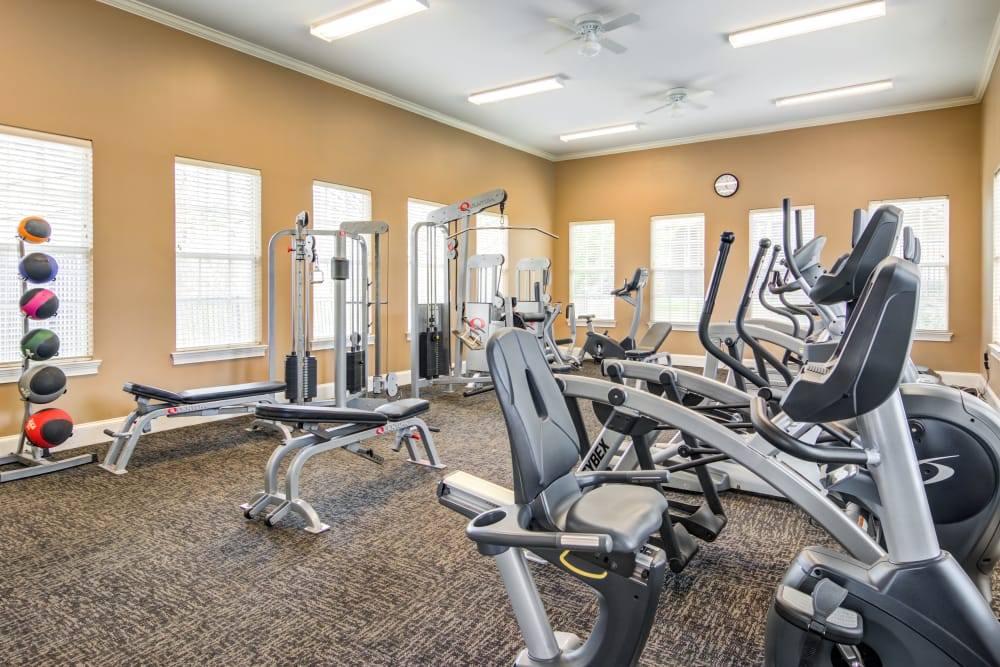 Fitness center at The Maddox in Duluth, GA