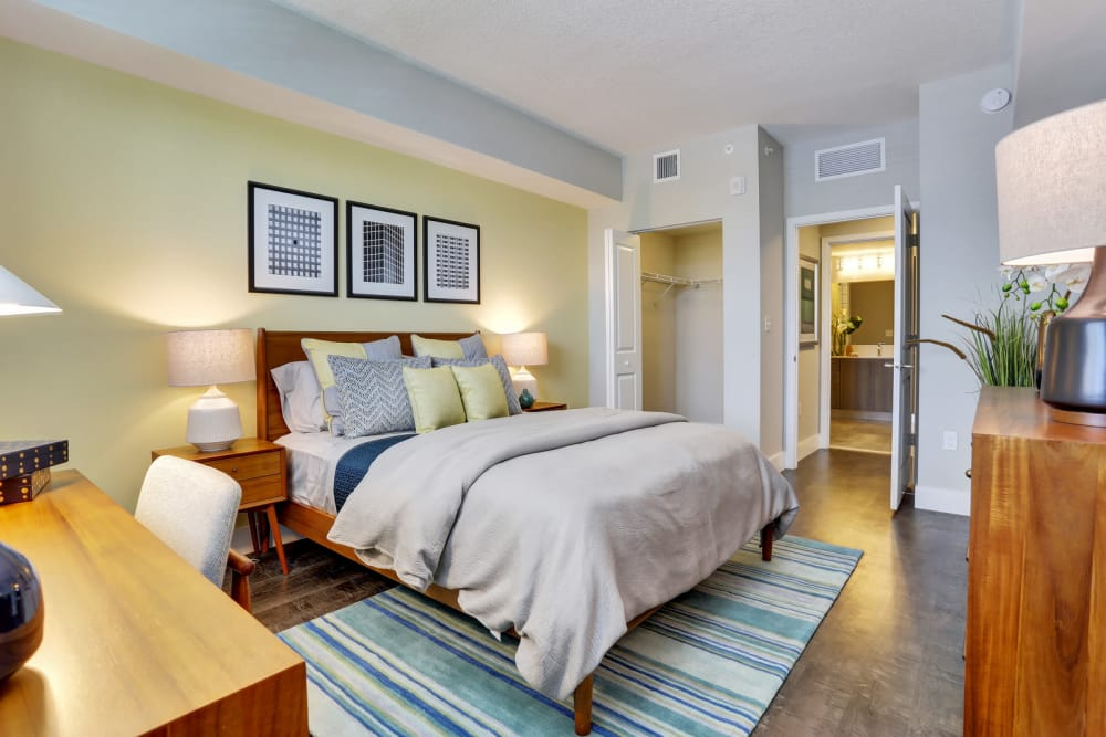 Master bedroom at Casa Vera in Miami, FL