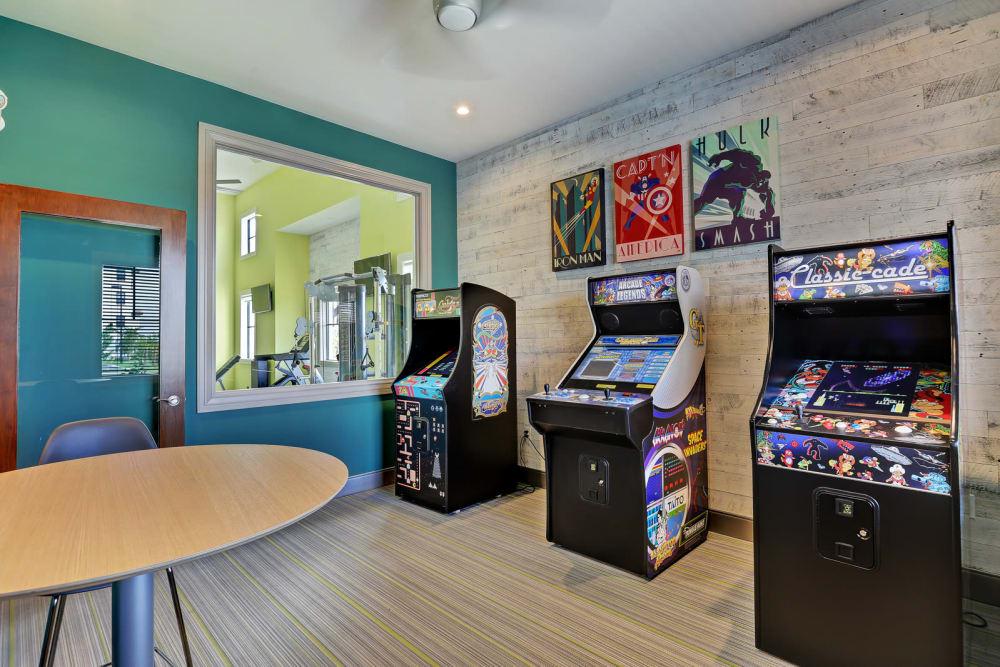 Gaming room at Casa Vera in Miami, FL