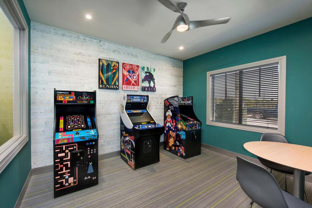 Arcade games at Casa Vera in Miami, FL