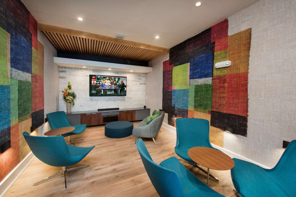 clubhouse seating at Casa Vera in Miami, FL