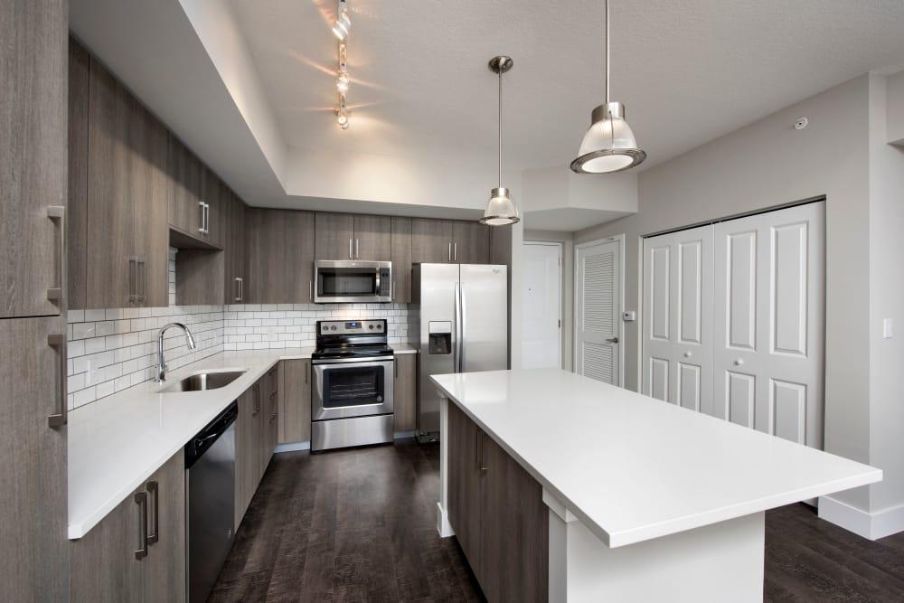 Modern kitchen at Casa Vera in Miami, FL
