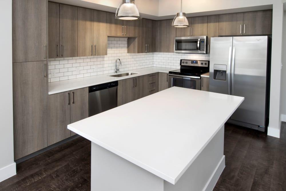 White island in Casa Vera kitchen in Miami, FL