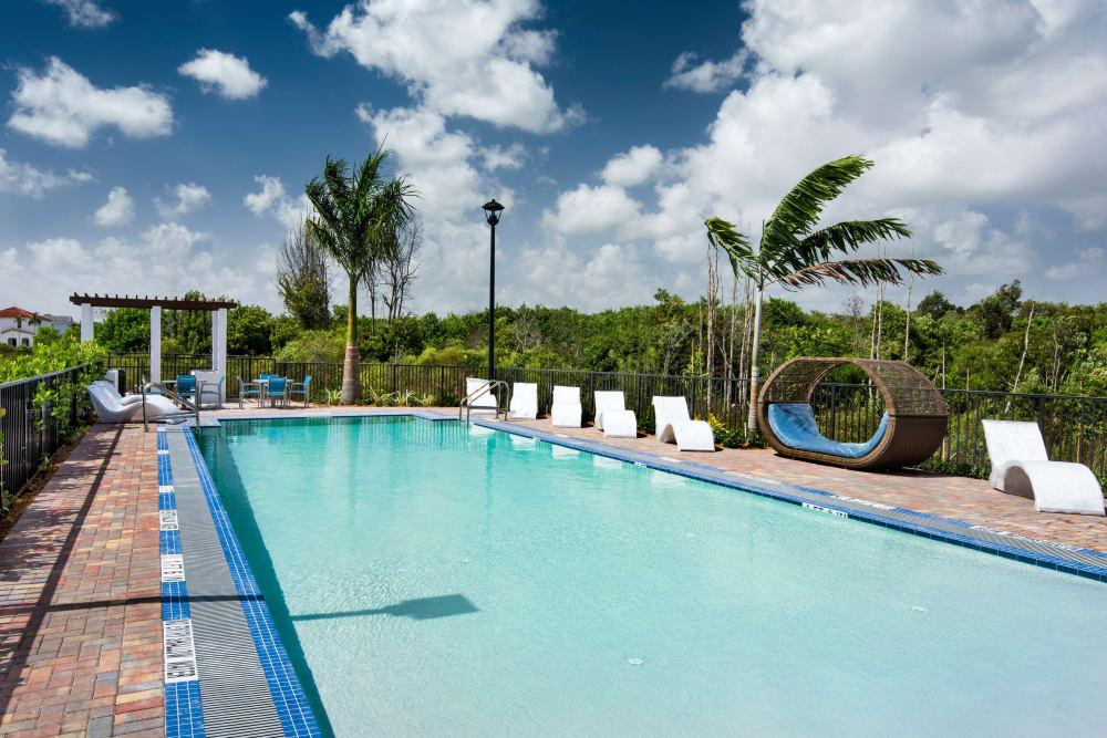 Private pool at Casa Vera in Miami, FL