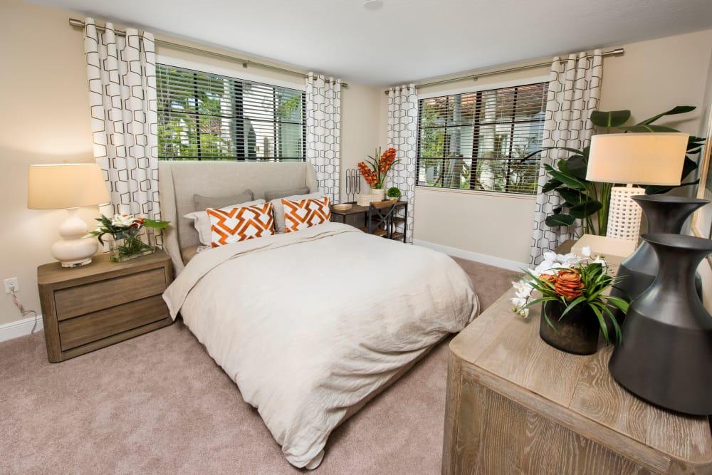 Spacious bedroom at Casa Vera in Miami, FL