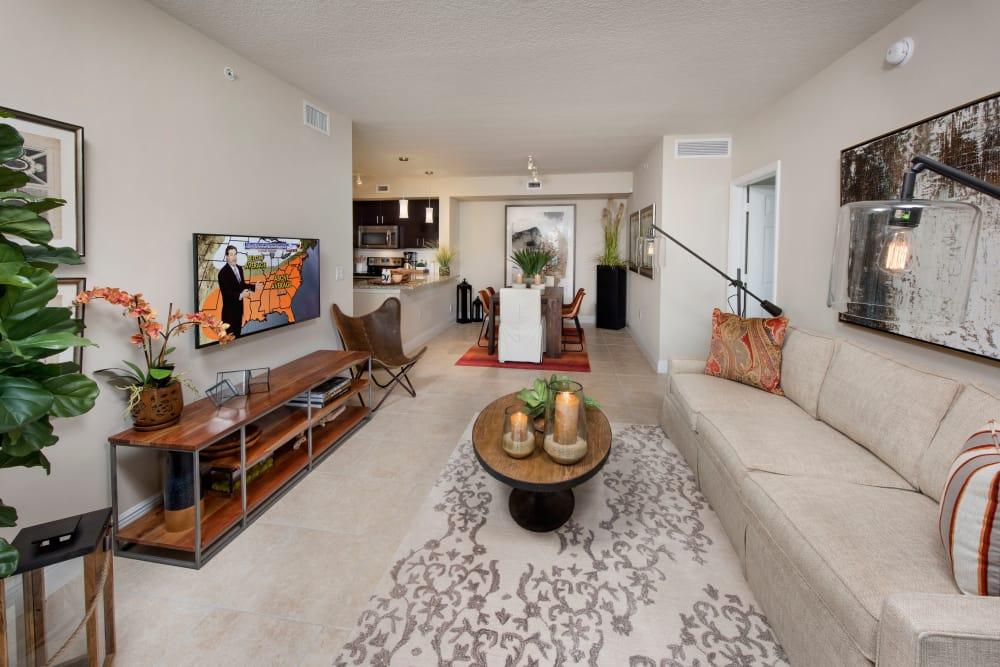 Open living room at Casa Vera in Miami, FL