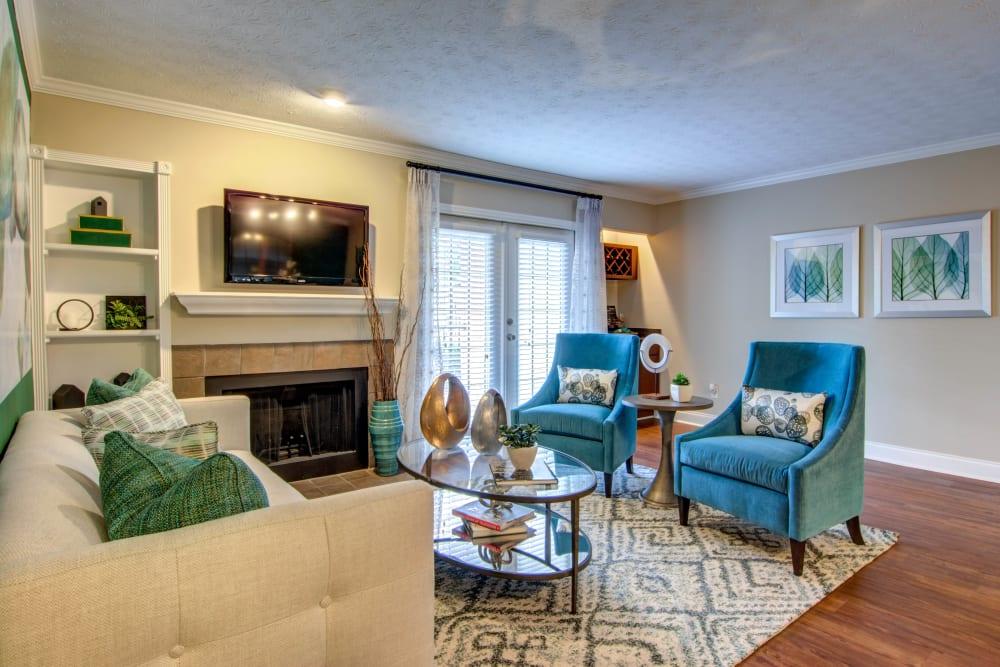 Living Room at The Residences at Vinings Mountain in Atlanta, Georgia