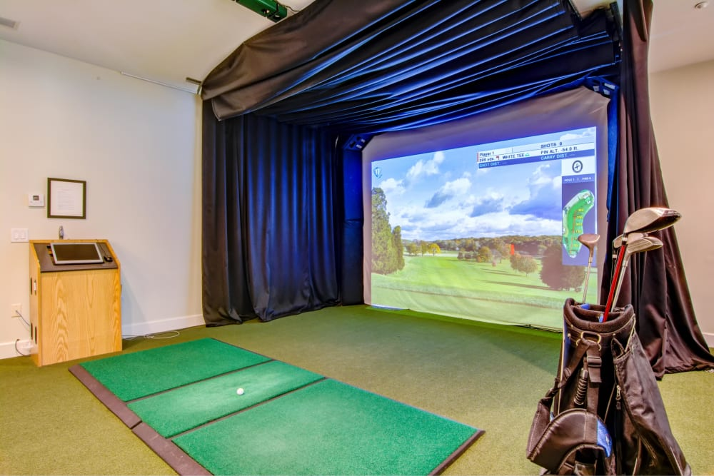 Our Apartments in Atlanta, Georgia offers a Golf Simulator
