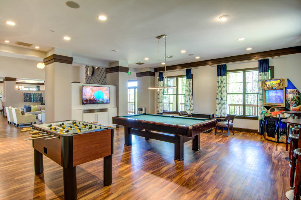 Pool Table in our Beautiful Clubhouse at The Residences at Vinings Mountain in Atlanta, Georgia