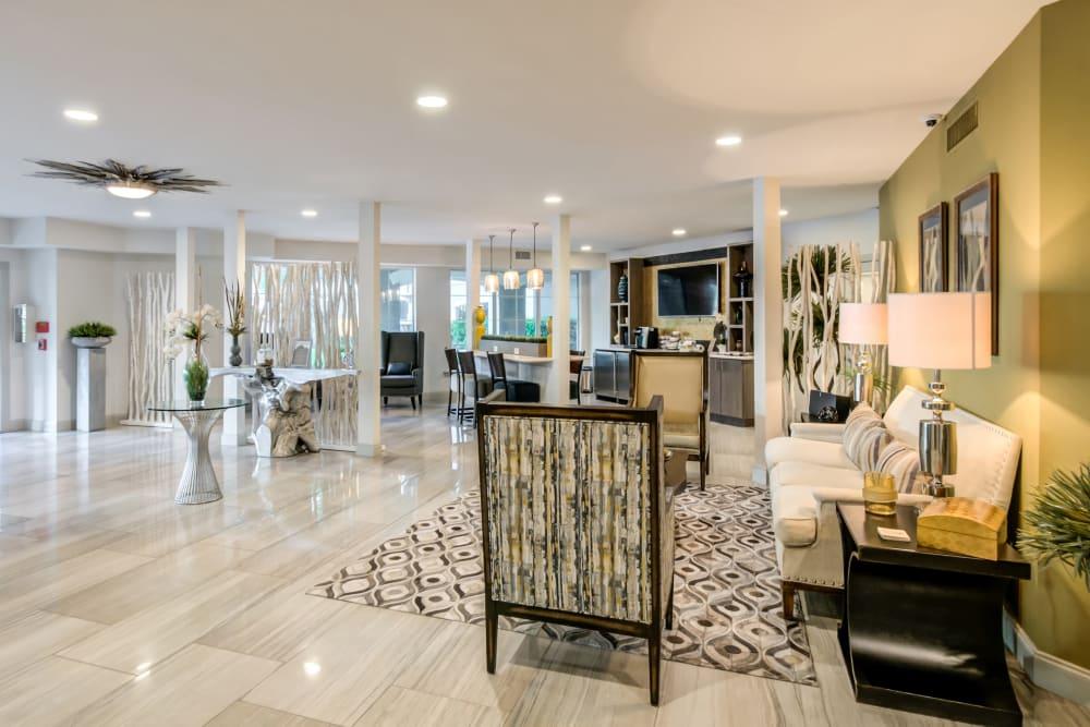 Beautiful Leasing Office Lounge at Meridian Apartments in San Antonio, Texas