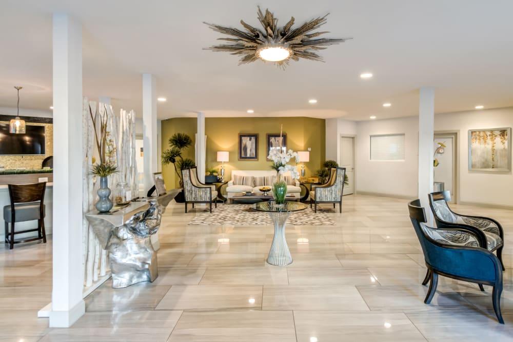 Beautiful Leasing Office Lounge at Meridian Apartments in San Antonio, TX