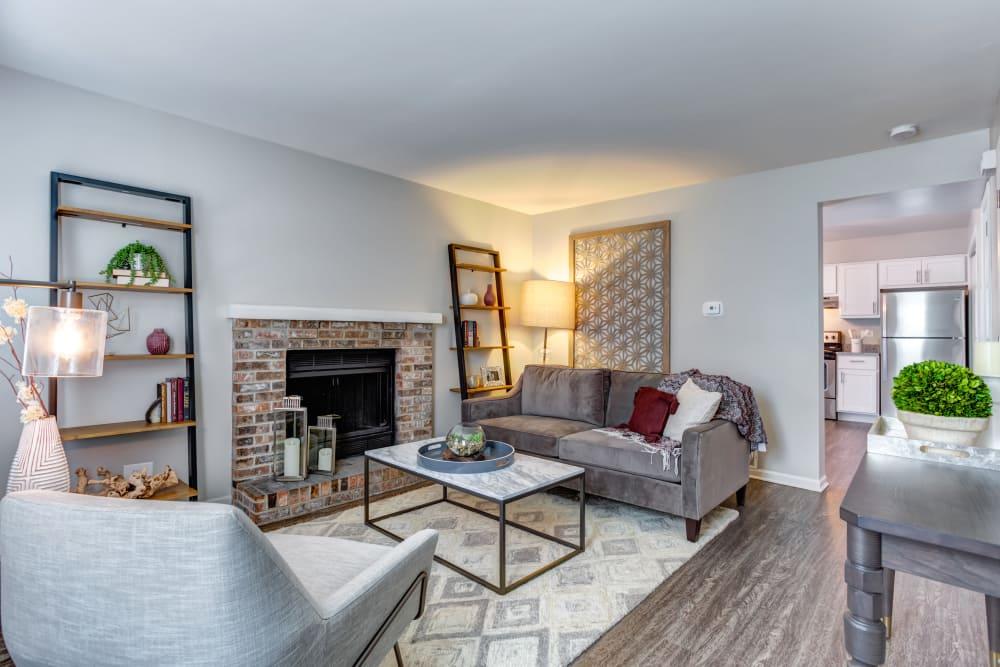 Spacious living room at apartments in Aurora, Illinois