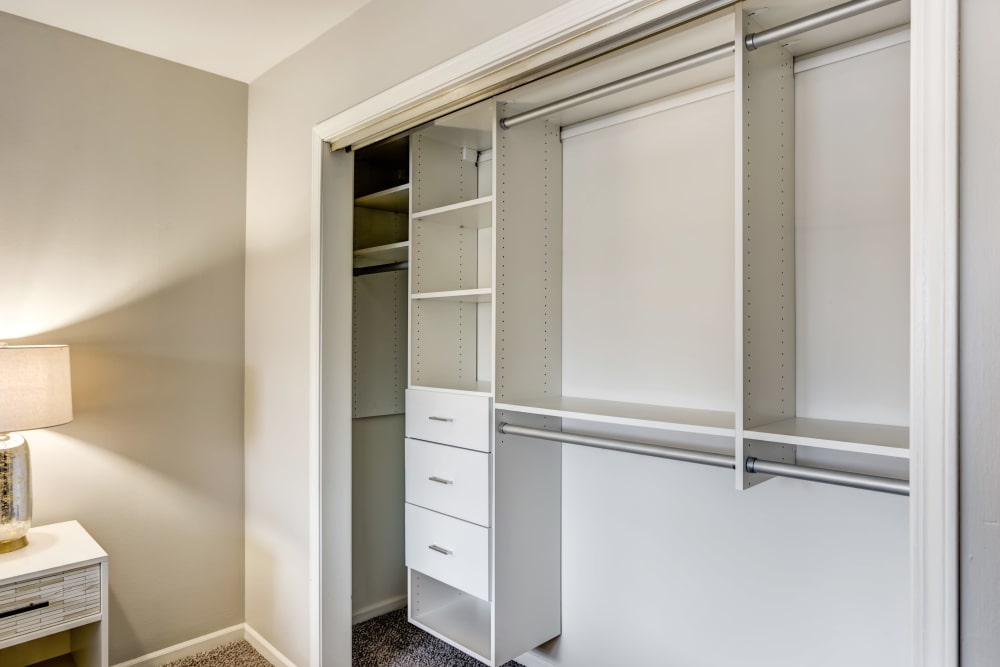 Our apartments in Aurora, Illinois showcase a beautiful bedroom