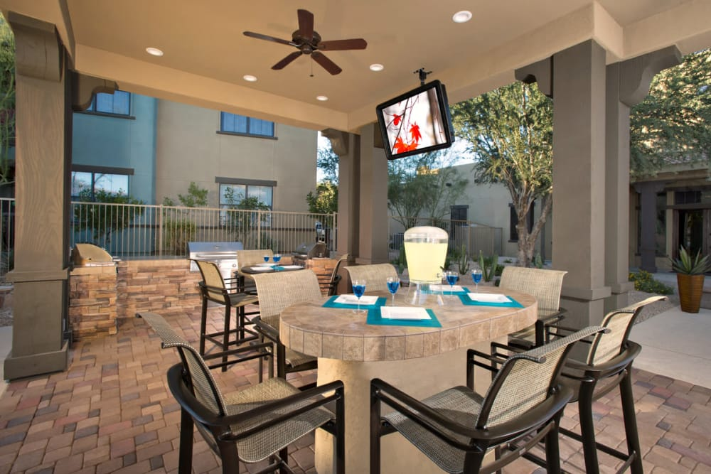 Clubhouse community room at Las Colinas at Black Canyon in Phoenix, Arizona