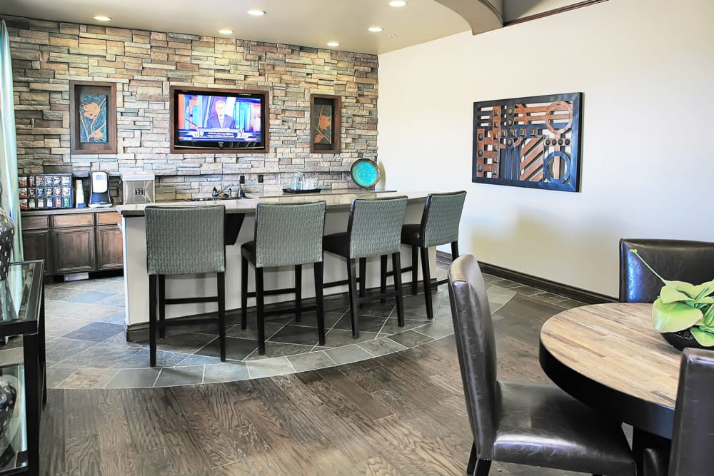 Clubhouse kitchen at Las Colinas at Black Canyon in Phoenix, Arizona