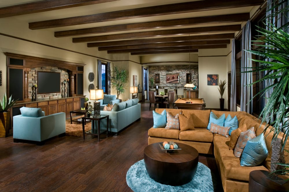 Clubhouse lobby at Las Colinas at Black Canyon in Phoenix, Arizona