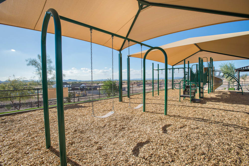 The shaded playground at Las Colinas at Black Canyon in Phoenix, Arizona