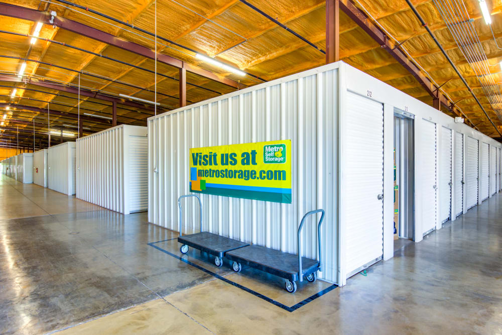 Indoor units at Metro Self Storage in Montgomery, AL