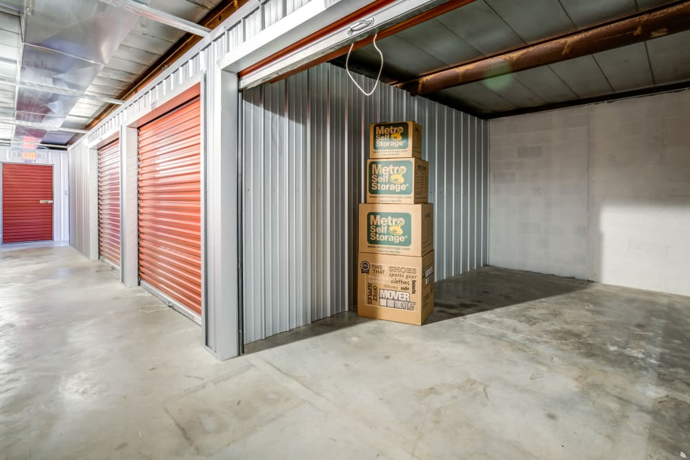 Interior units at Metro Self Storage in Knoxville, TN