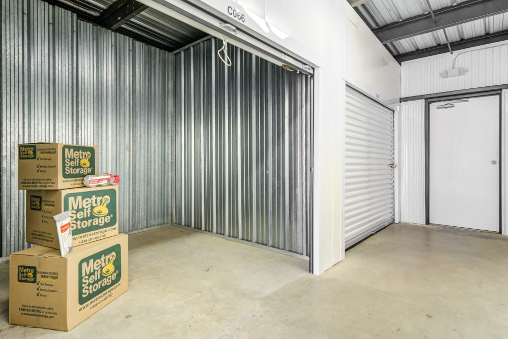 Inside units at Metro Self Storage in Marietta, GA
