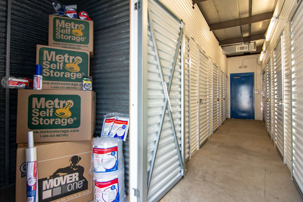 Open indoor unit at Metro Self Storage in Decatur, GA