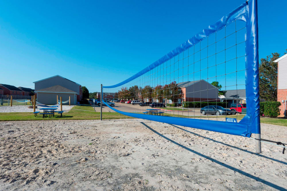 Beach volley court at Parcside in College Station, Texas