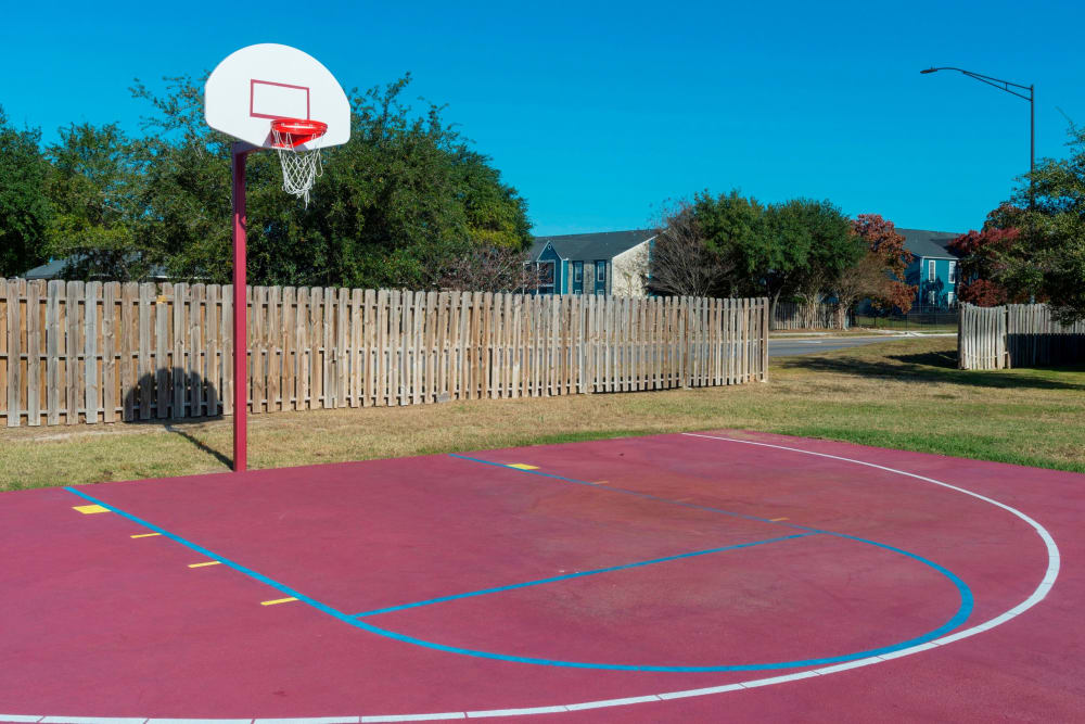 Basketball court at Parcside in College Station, Texas