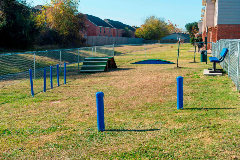 Dog park at Parcside in College Station, Texas