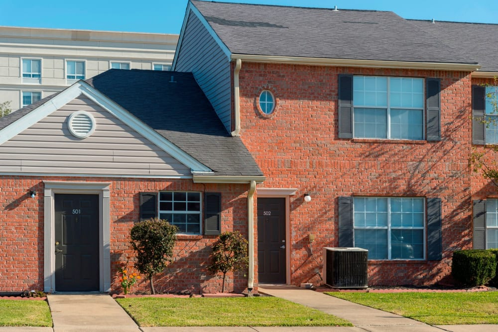 Beautiful townhomes at Parcside in College Station, Texas