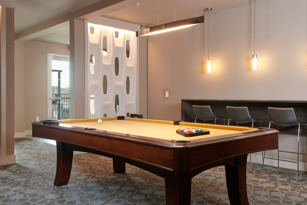 Billiard room at The Kennedy in San Antonio, TX