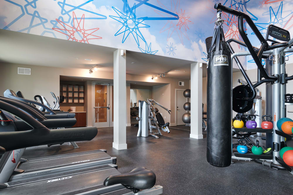 Fitness center at The Kennedy in San Antonio, TX