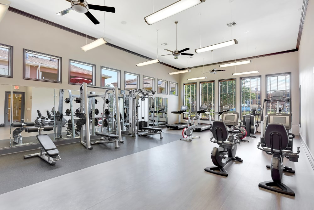 Our apartments in Austin, Texas showcase a luxury fitness center