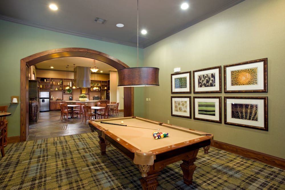 Game area at Onion Creek Luxury Apartments in Austin, Texas