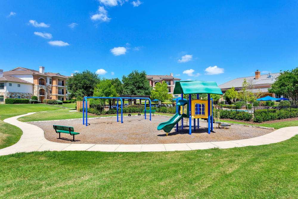 Playground at apartments in Austin, Texas