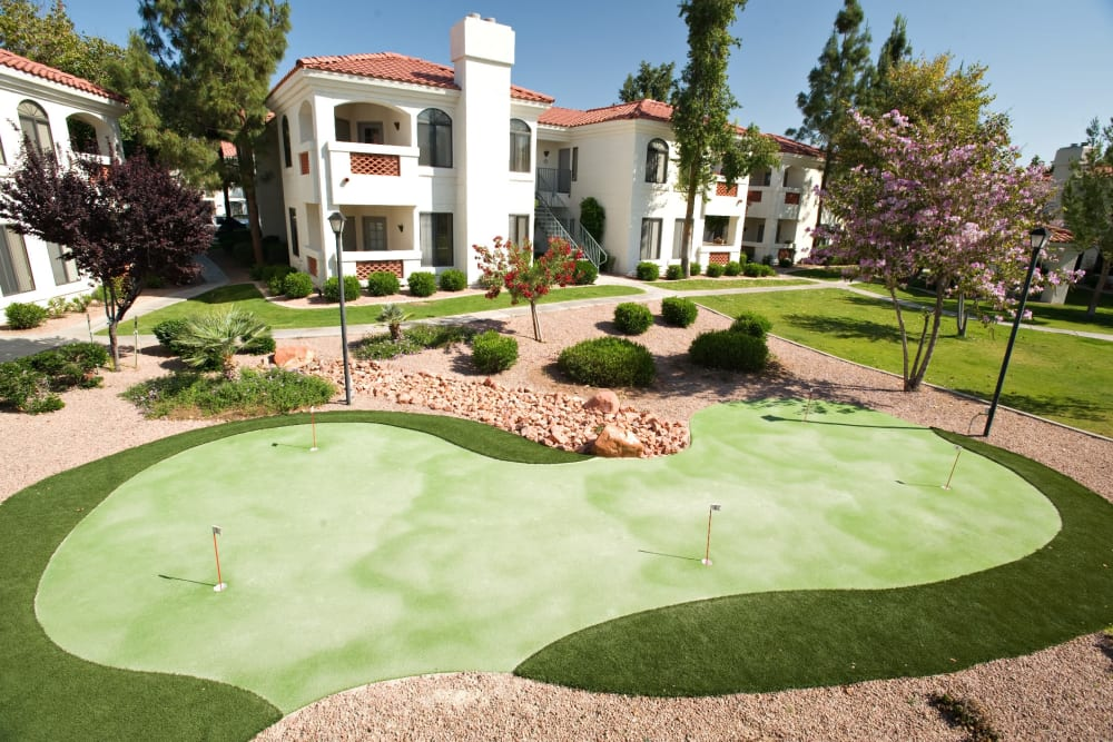 Putting green at San Antigua in McCormick Ranch in Scottsdale, Arizona