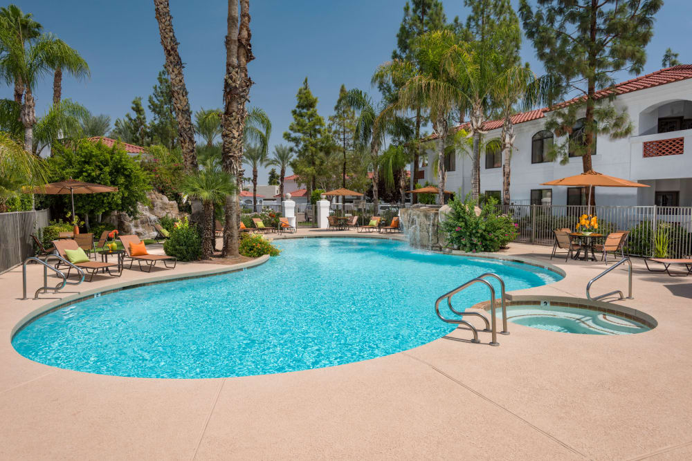 Swimming pool at San Antigua in McCormick Ranch in Scottsdale, Arizona