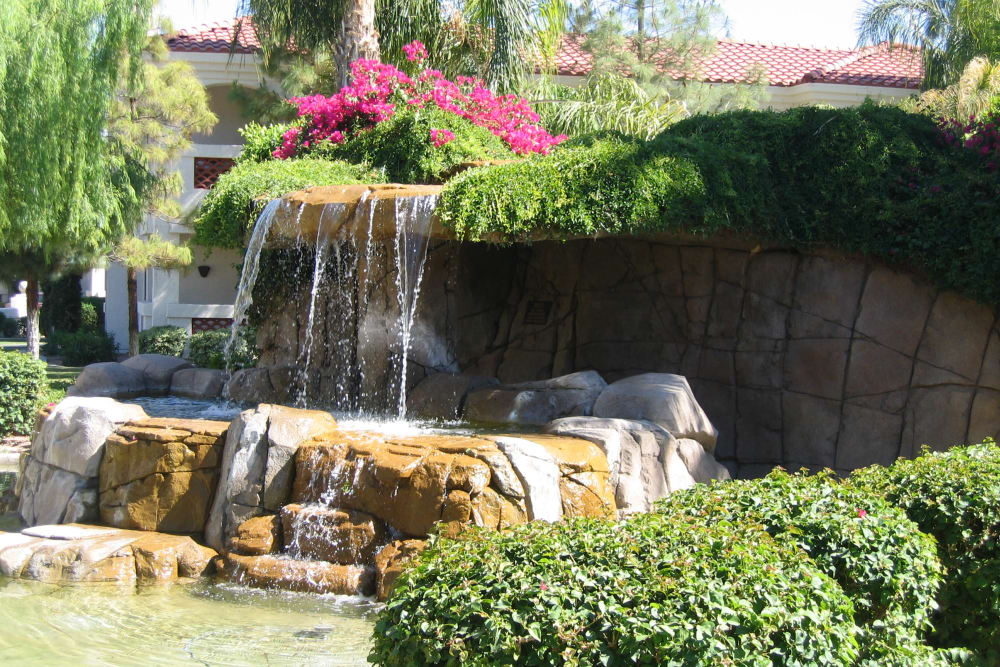 Water feature at San Antigua in McCormick Ranch in Scottsdale, Arizona