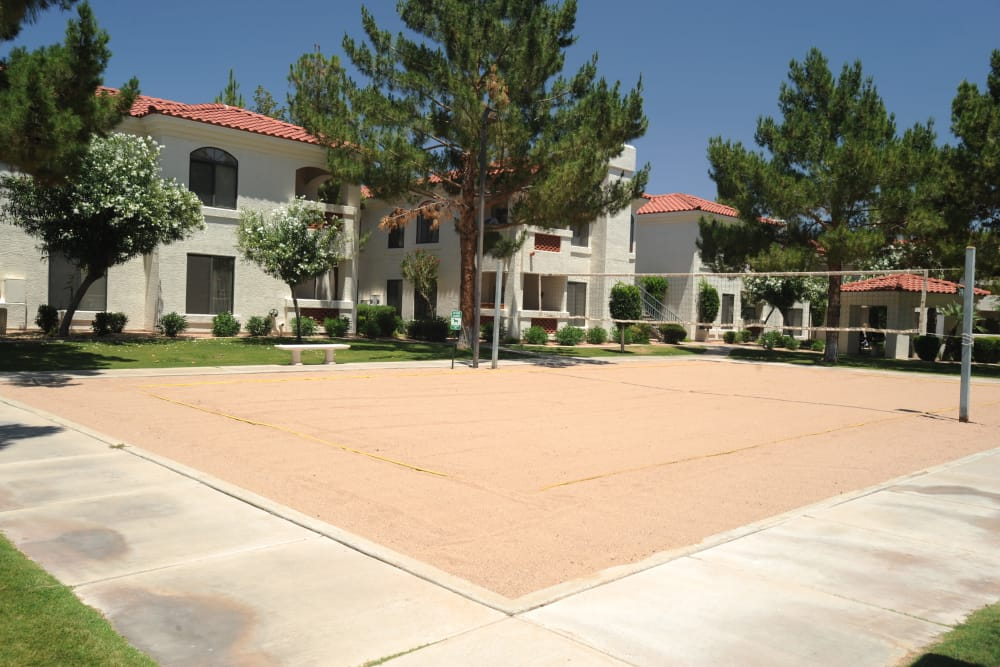 San Antigua in McCormick Ranch offers a unique sand volleyball court in Scottsdale, Arizona