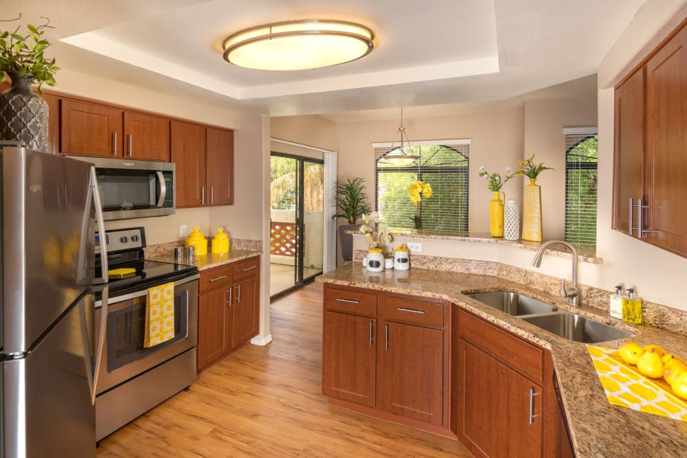 Modern kitchen at San Antigua in McCormick Ranch in Scottsdale, Arizona