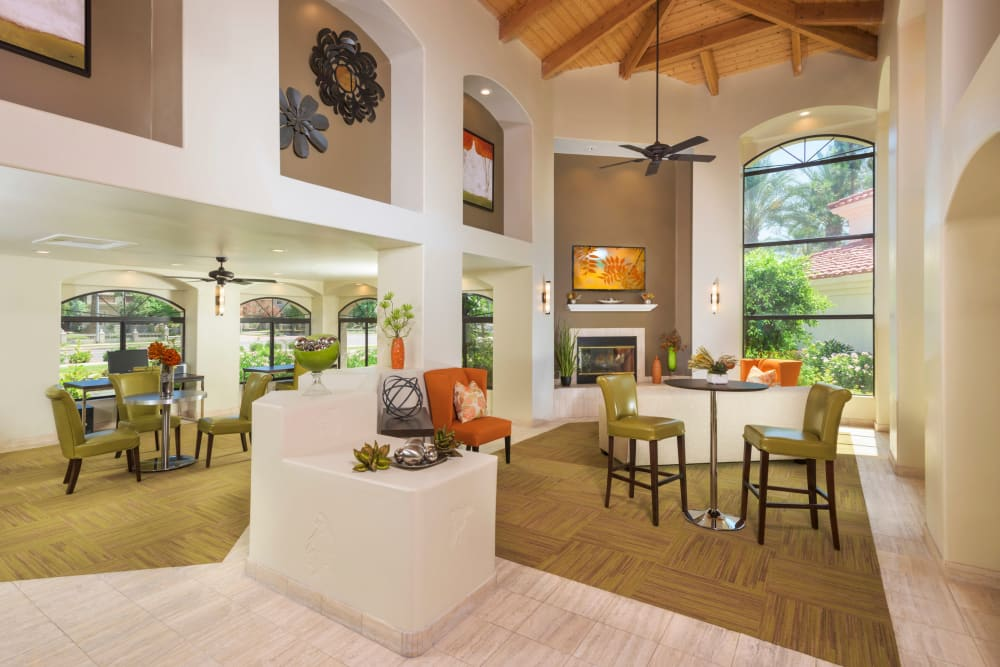 Modern clubhouse at San Antigua in McCormick Ranch in Scottsdale, Arizona