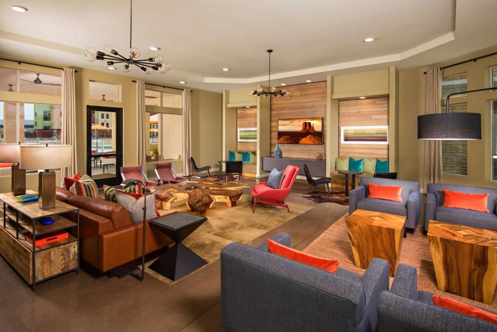 Luxury clubhouse at Southern Avenue Villas in Mesa, Arizona