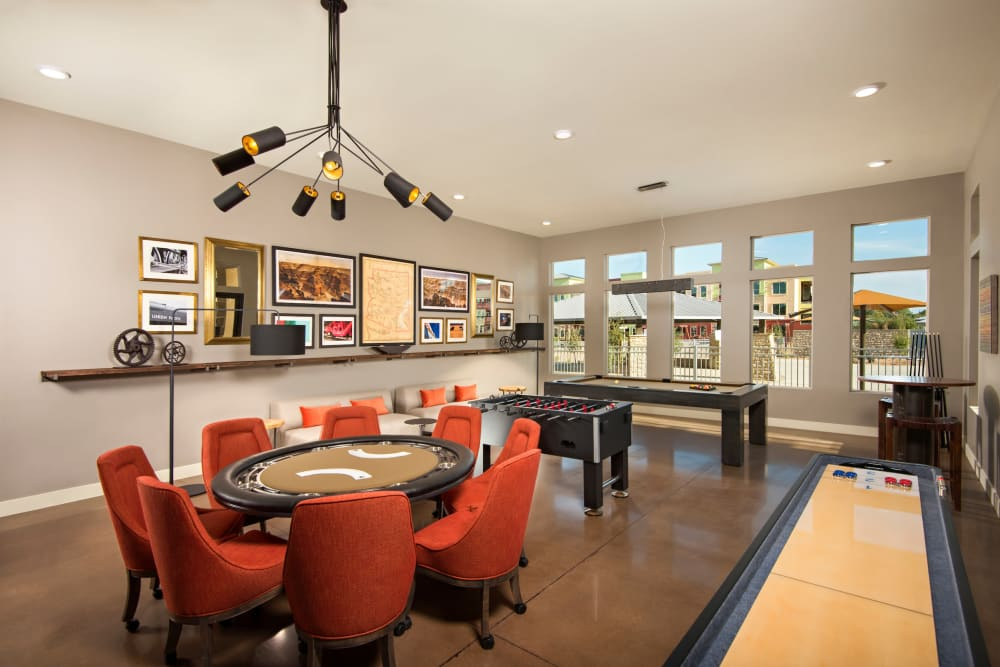 Game room at Southern Avenue Villas in Mesa, Arizona