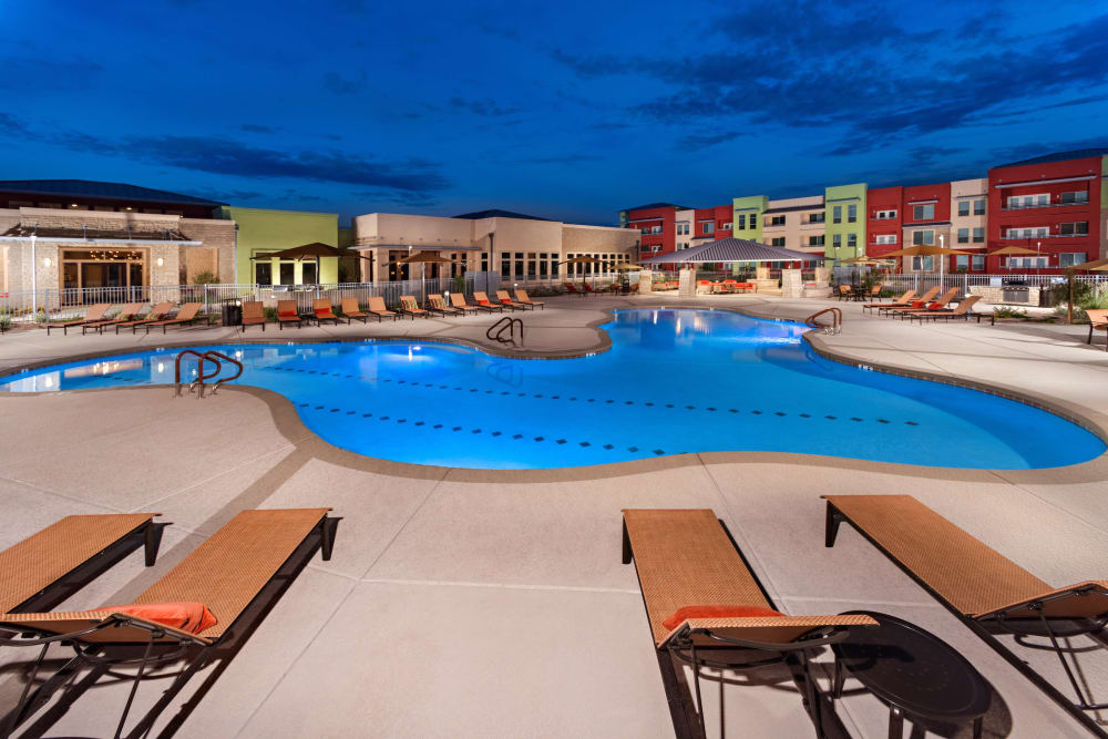 Relax poolside at Southern Avenue Villas in Mesa, Arizona