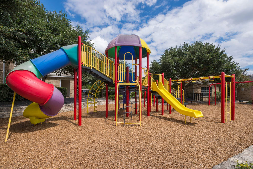 Enjoy our playground at Stoneybrook Apartments & Townhomes in San Antonio, Texas